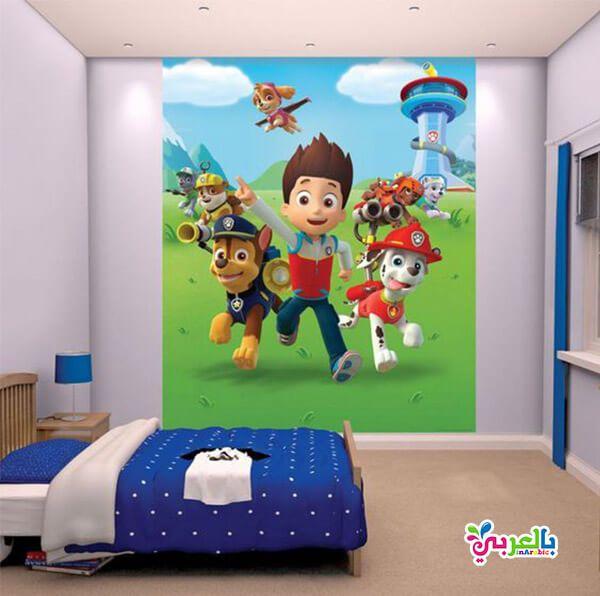 الوان غرف نوم اطفال جديدة دهانات غرف اطفال حديثة بالعربي نتعلم Paw Patrol Bedroom Paw Patrol Room Childrens Wall Murals