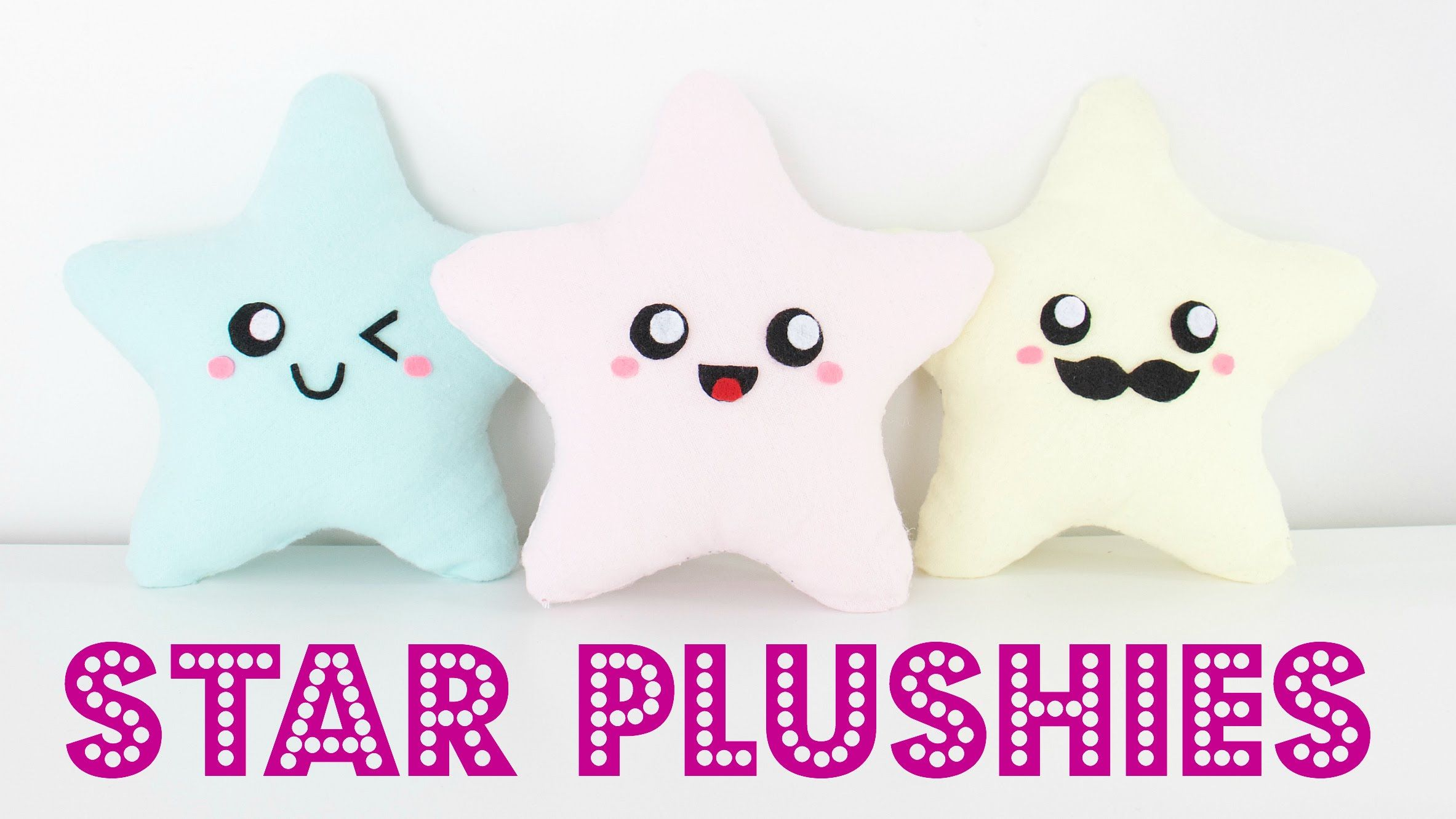 DIY Easy Kawaii Star Plush Pillows - Easy Room Decor & Gift Idea ...