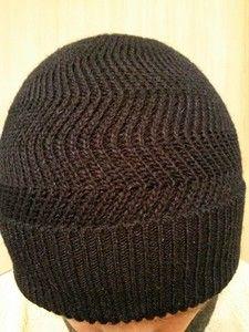 шапка мужская зигзаг были вопросы по вязанию шапочки описание