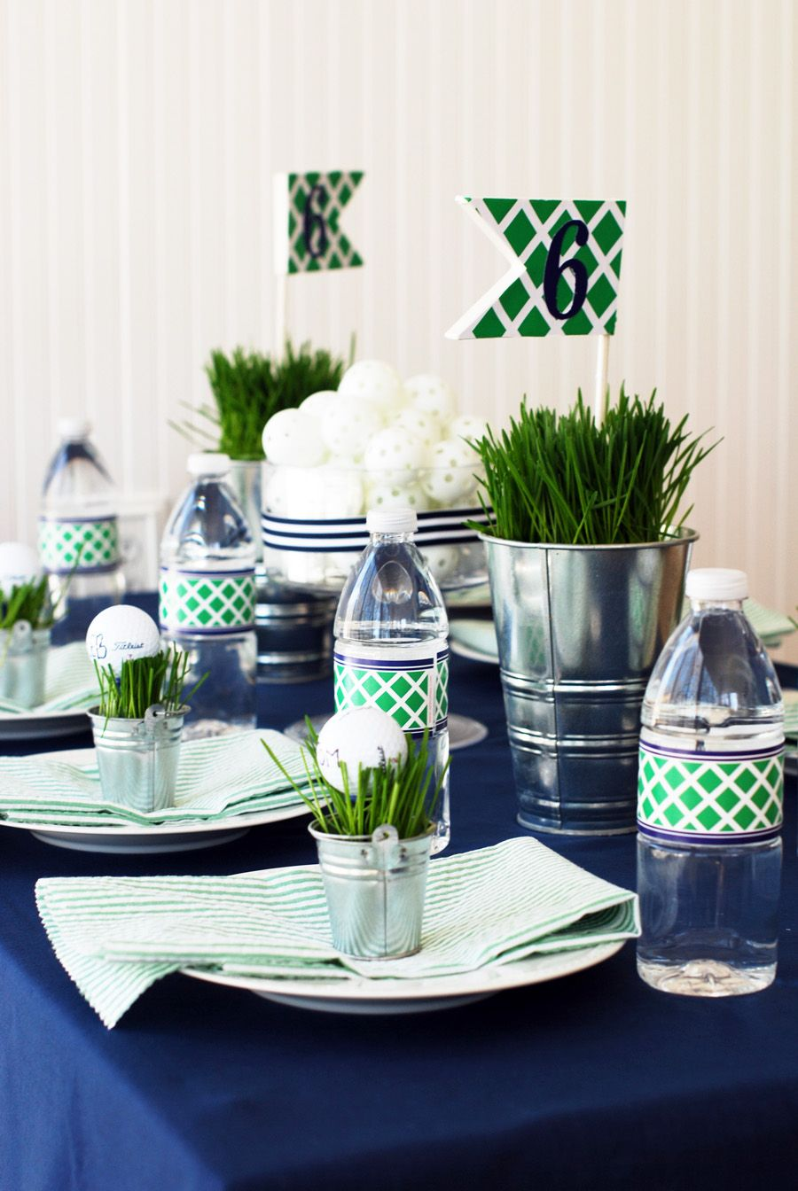 Tablesetting left side 900 1 344 pixels golf for Golf decoration ideas