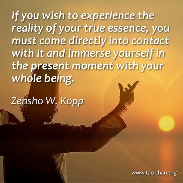 If you wish to experience the reality of your true essence, you must come directly into contact with it and immerse yourself in the present moment with your whole being. - Zensho W. Kopp #zenqoutes #zen #buddhism #zenbuddhism #peaceful #buddha #meditation #meditationtime