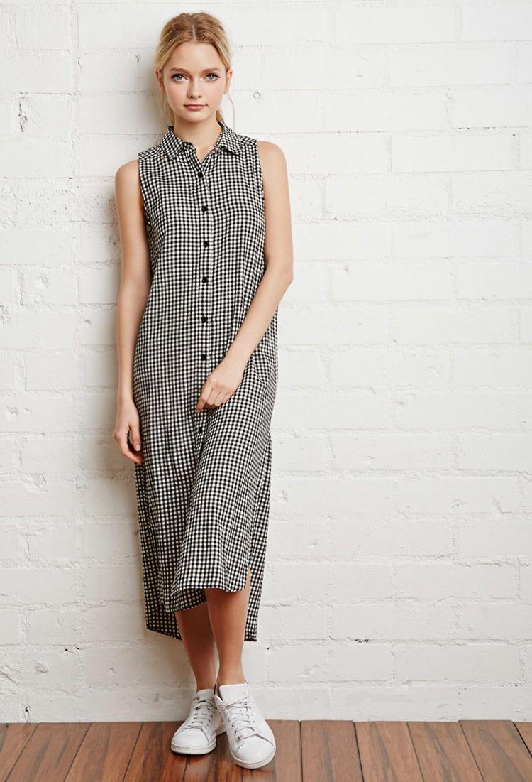 Gingham Maxi Shirt Dress | FOREVER 21 saved by #ShoppingIS