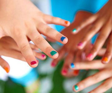 For this glamorous game, stock up on as many nail polish shades as you have guests (We like Piggy Paint, a line of nontoxic polish that's formulated for kids—lots of colors, no fumes! from $4, at Walmart or piggypaint.com) and cover a table with a plastic cloth. To play, each child selects a color and takes a place at the table. When the music begins, guests pass the polish around the circle. When the tune stops, each polishes one nail with the color she's holding (with an adult's help,...