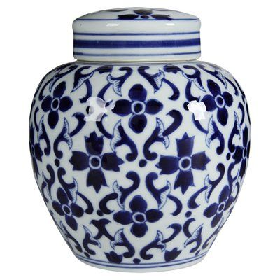 Decorative Urn Amusing Darby Home Co Bluewhite Ceramic Decorative Urn  Urn And Products Decorating Design