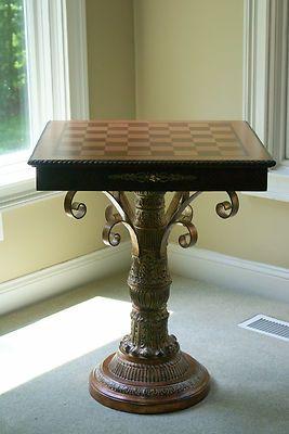 Beautiful Inlaid Chess Board Table