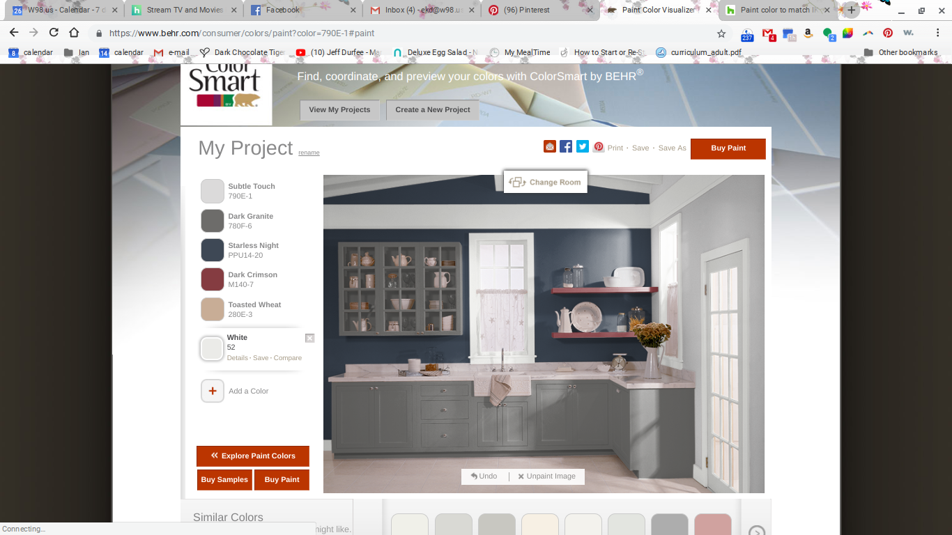 pin by elizabeth douglas on home sweet home paint color on behr paint visualizer id=14303