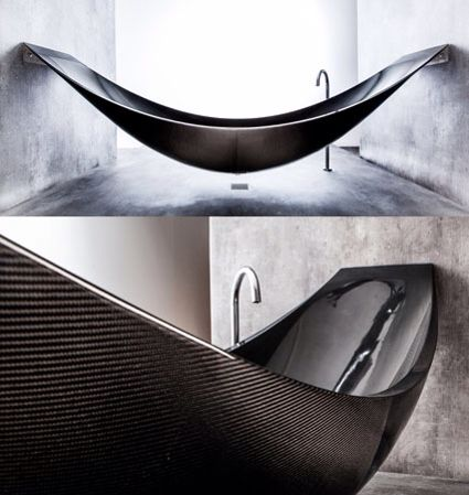 Carbon Fibre Bathtub Hanging Bath Made By Splinterworks In The