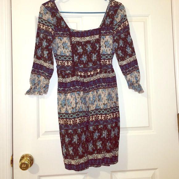 Green Square Neckline Dress