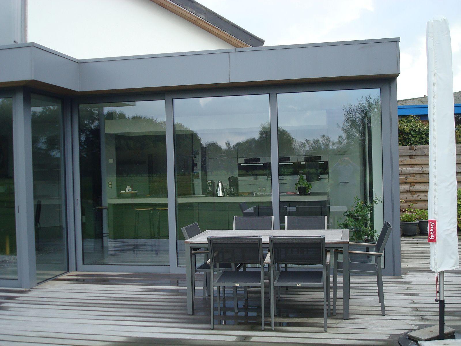 Moderne Uitbouw Aluminium Veranda Modern Outdoor Decor
