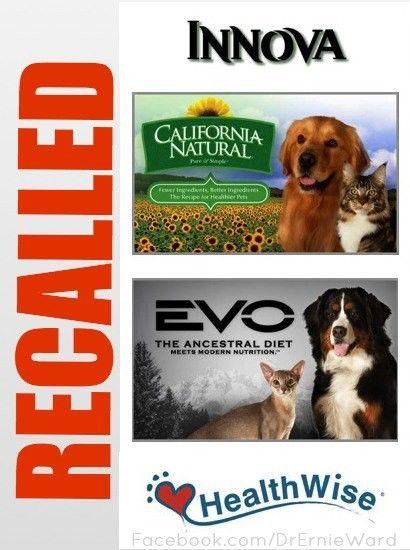 Pet Food Recall Alert Natura Pet Foods Recalls Innova Evo