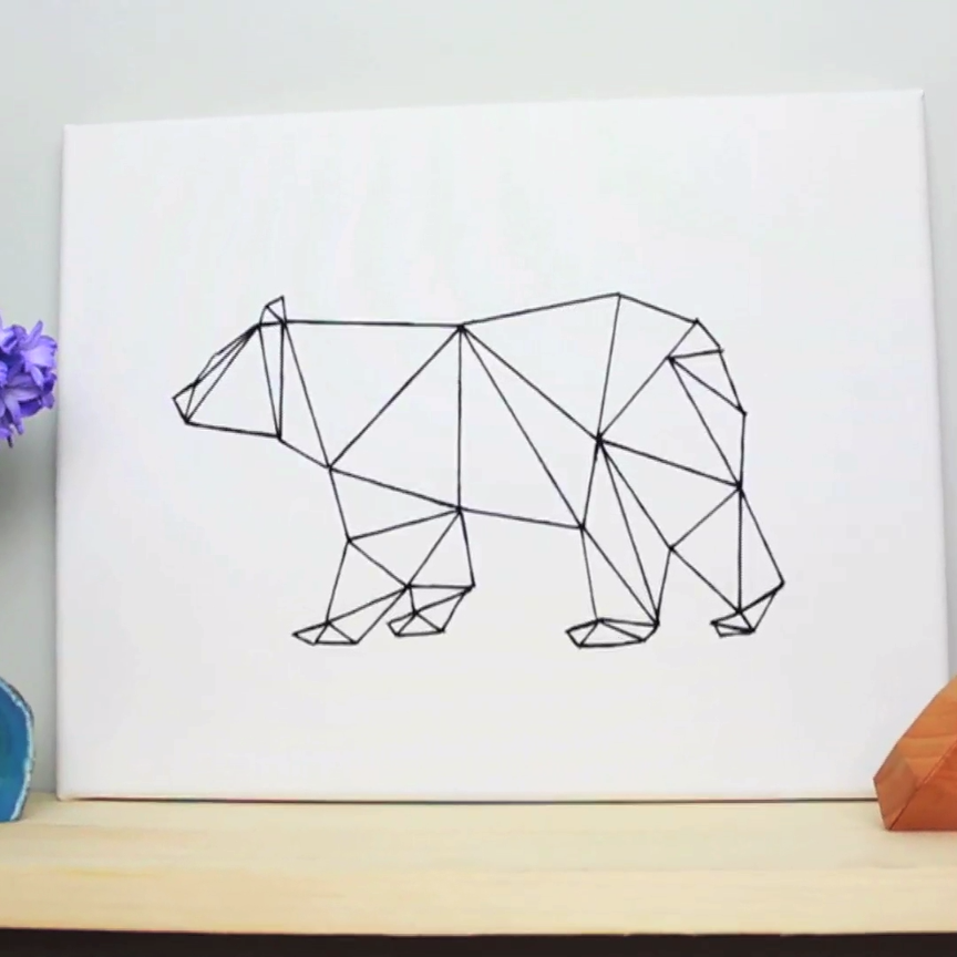 Diy Geometric Bear Art Handmade Diy Pinterest