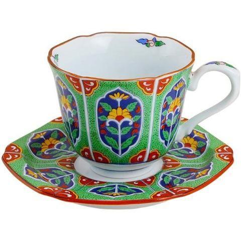 Arita Yaki Coffee Cup Saucer Item