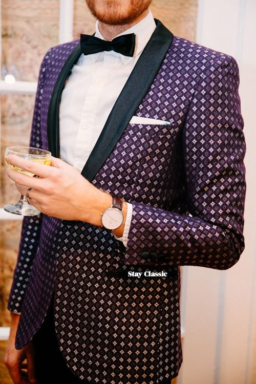 Slim Geometric Jacquard - EDGE by WD.NY - JackThreads - $109  Shirt: Sunwashed Oxford - J. Crew Factory - $22  Pants: Slim Black Tuxedo - EDGE by WD.NY - JackThreads - $50  Boots: Dario Wingtip -...
