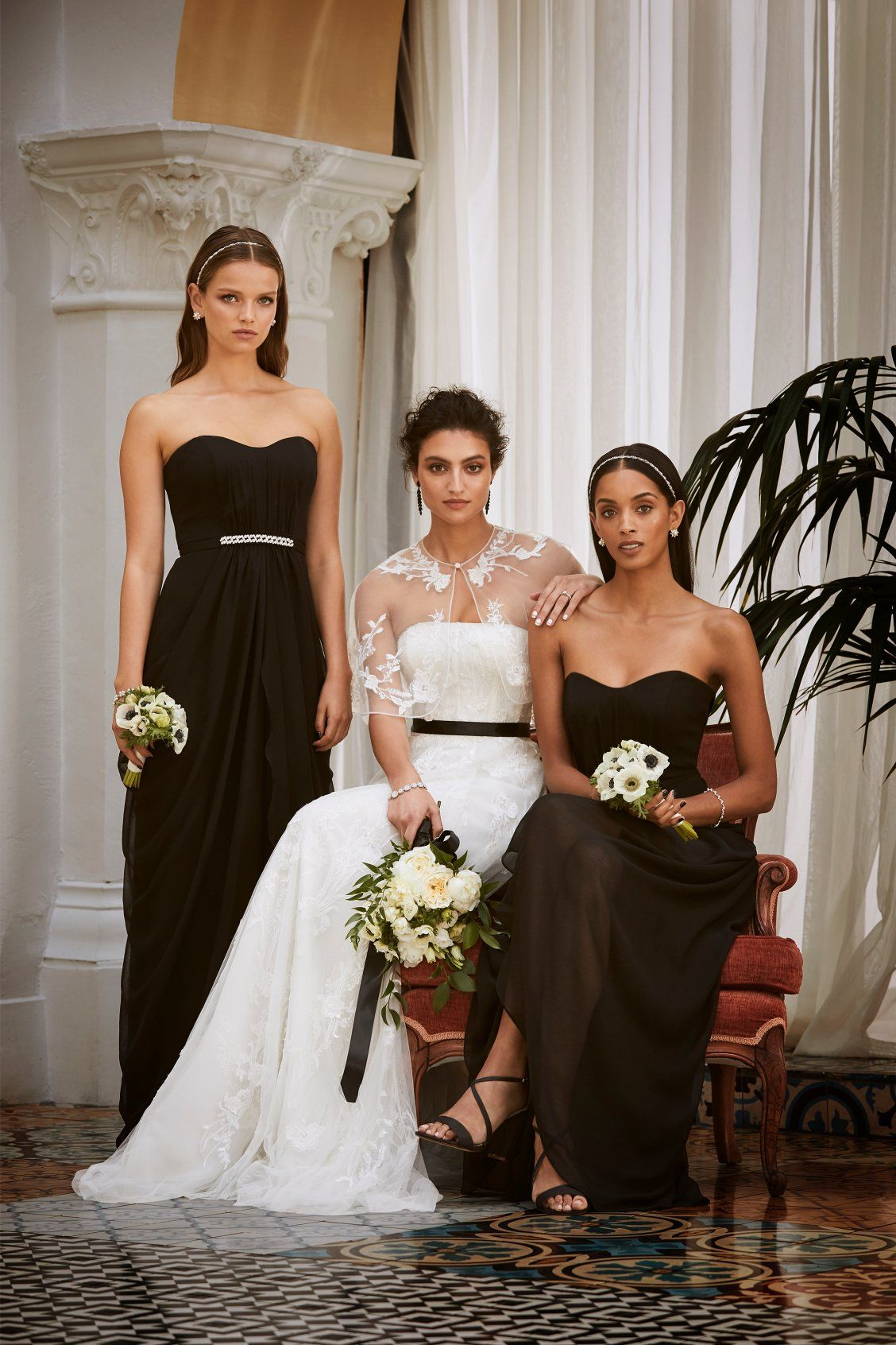 Black Accents From Your Bridal Accessories To Your Bridesmaids Are A Little Moody And A Whole Lot Wedding Dresses Sweet Wedding Dresses Bridal Wedding Dresses [ 1692 x 1128 Pixel ]