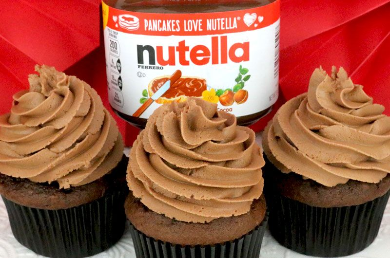 Receta Facil Nutella Buttercream Frosting Amantes De Nutella Esta Es Para Ti Cremoso Nutella Buttercream Frosting Nutella Frosting Recipe Frosting Recipes