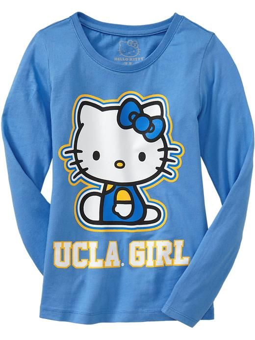 """OLD NAVY /""""HELLO KITTY/""""  OFFICIALLY LICENSED COLLEGIATE TEAM SHIRTS"""