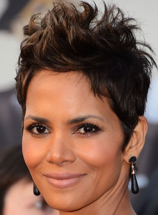 56 Stunning Short Hairstyles For Women In 2020 Halle Berry Hairstyles Spiked Hair Celebrity Short Hair