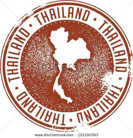 2 x Thai Thailand Vinyl Sticker iPad Laptop Travel Luggage Tag Map Flag #4536