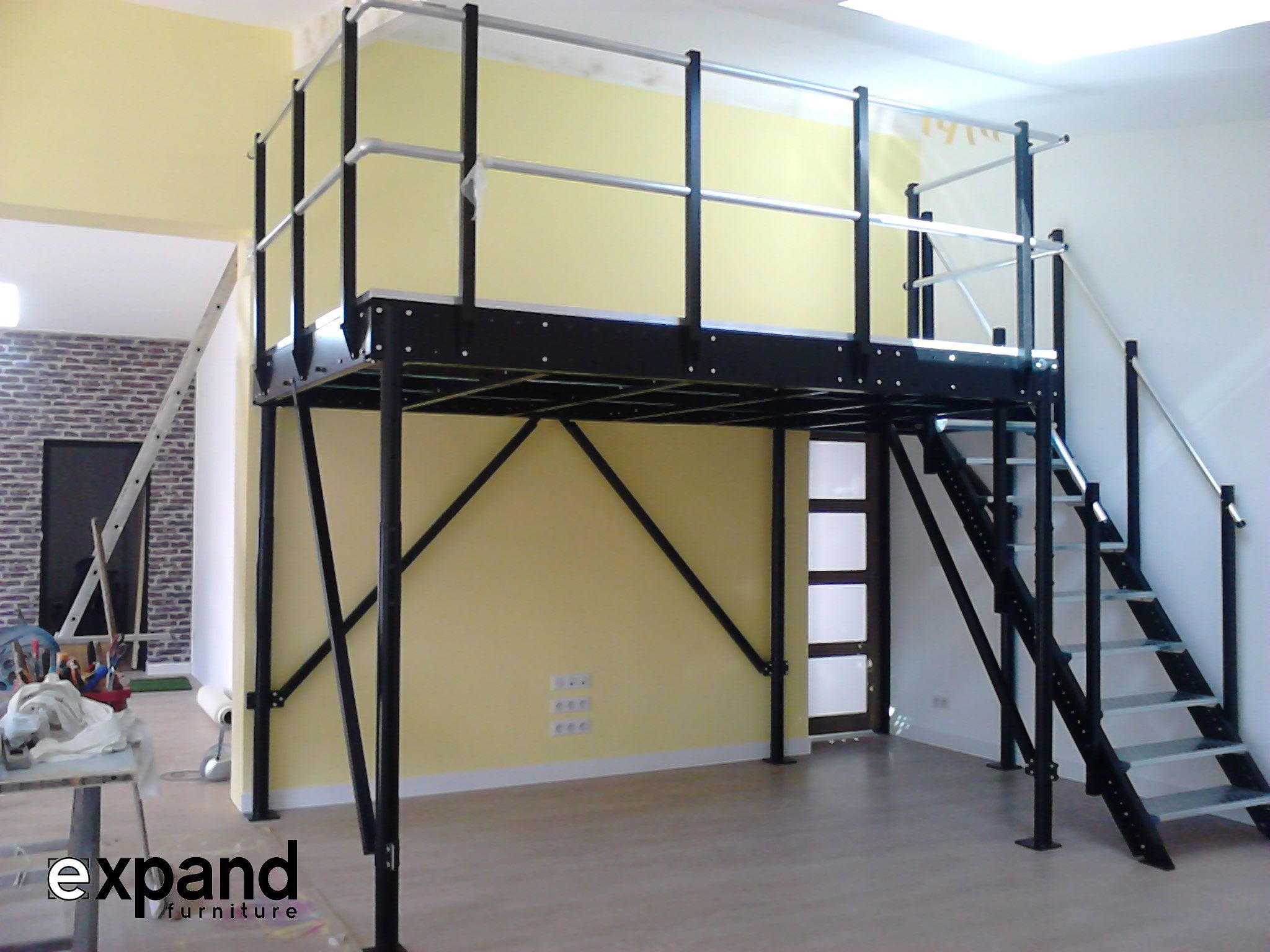 Loft bed with stairs diy  Loft Systems Including Parts For Making Lofts u DIY Loft Kits