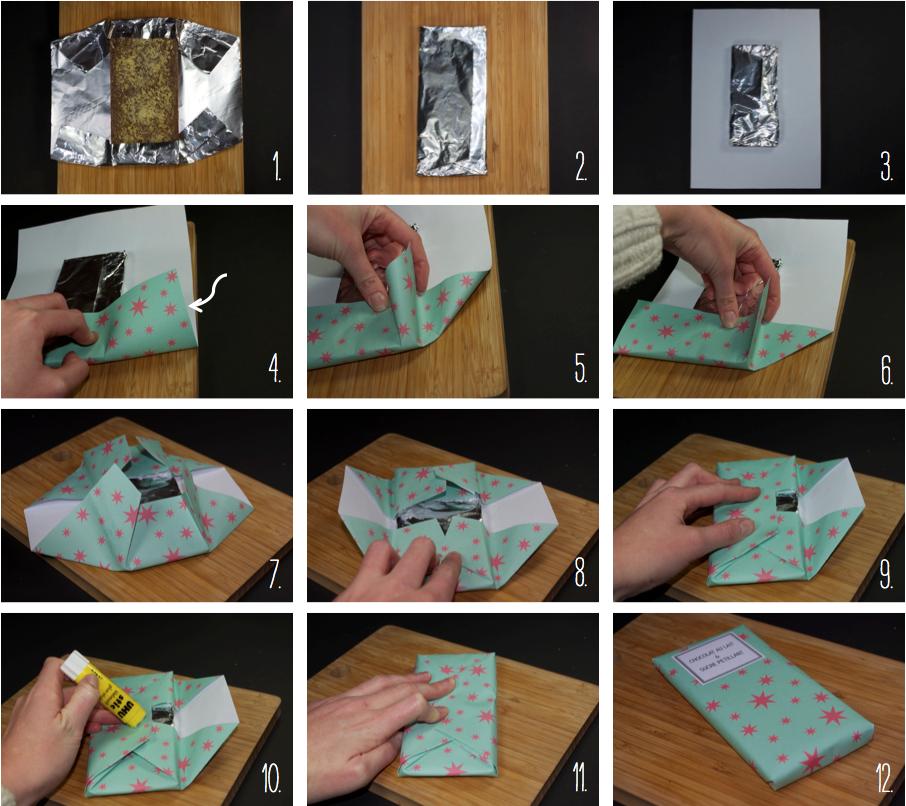 Connu Emballages pour des tablettes de chocolat maison | CONTENANTS  EG81
