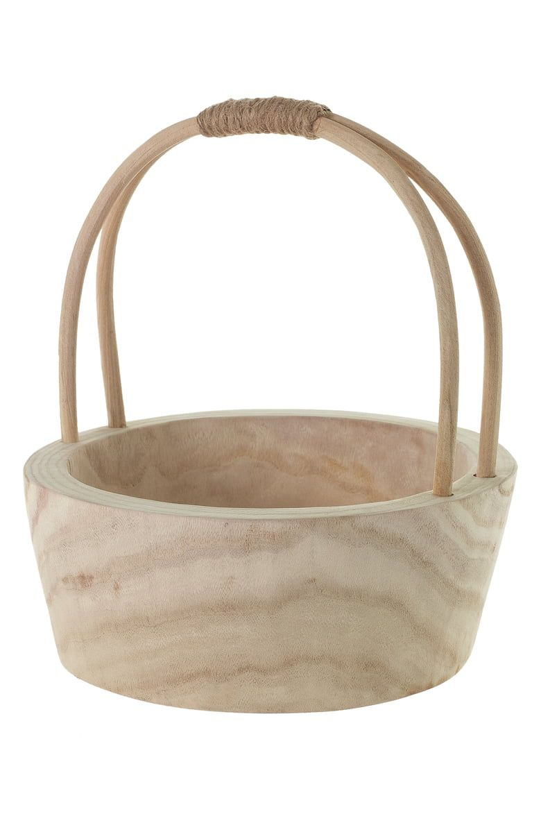 Accent Decor Mesa Wood Basket