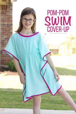 DIY Pom-Pom Swim Cover-Up   Make It and Love It   Bloglovin'