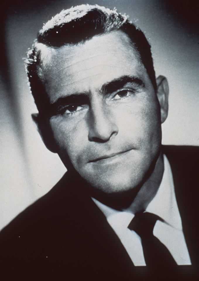 """Rod Serling's first major live drama """"Patterns,"""" aired on this date in 1955 on NBC's anthology series """"Kraft Television Theatre"""" It was so popular the cast reunited and performed it live the following month. And in 1956, a feature film version was released. Photo of serling from the L.A. Times files"""