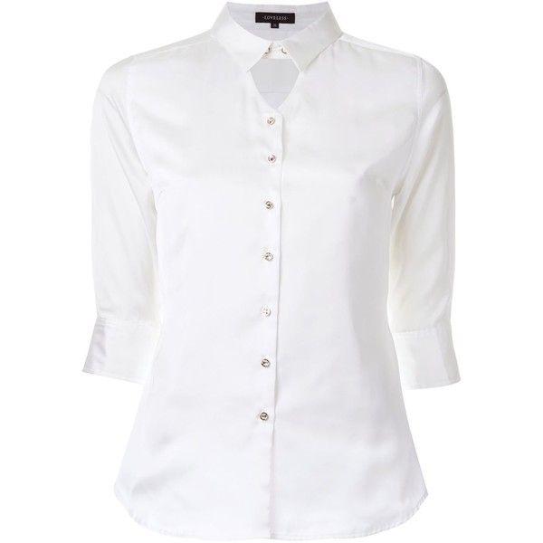 Loveless Keyhole Panel Button Down Shirt ($105) ❤ liked on ...