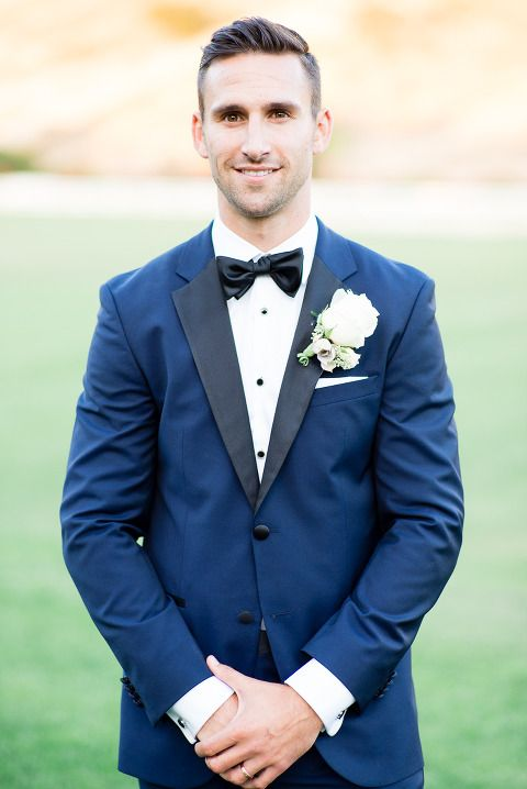 Blue groom suit || Blue tux || Stylish groom || groom style || bow ...