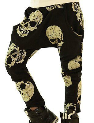 8bd4237dc Kids Baby Boys Girls Clothes Harem Pants Skull Rock Trousers Bottoms ...