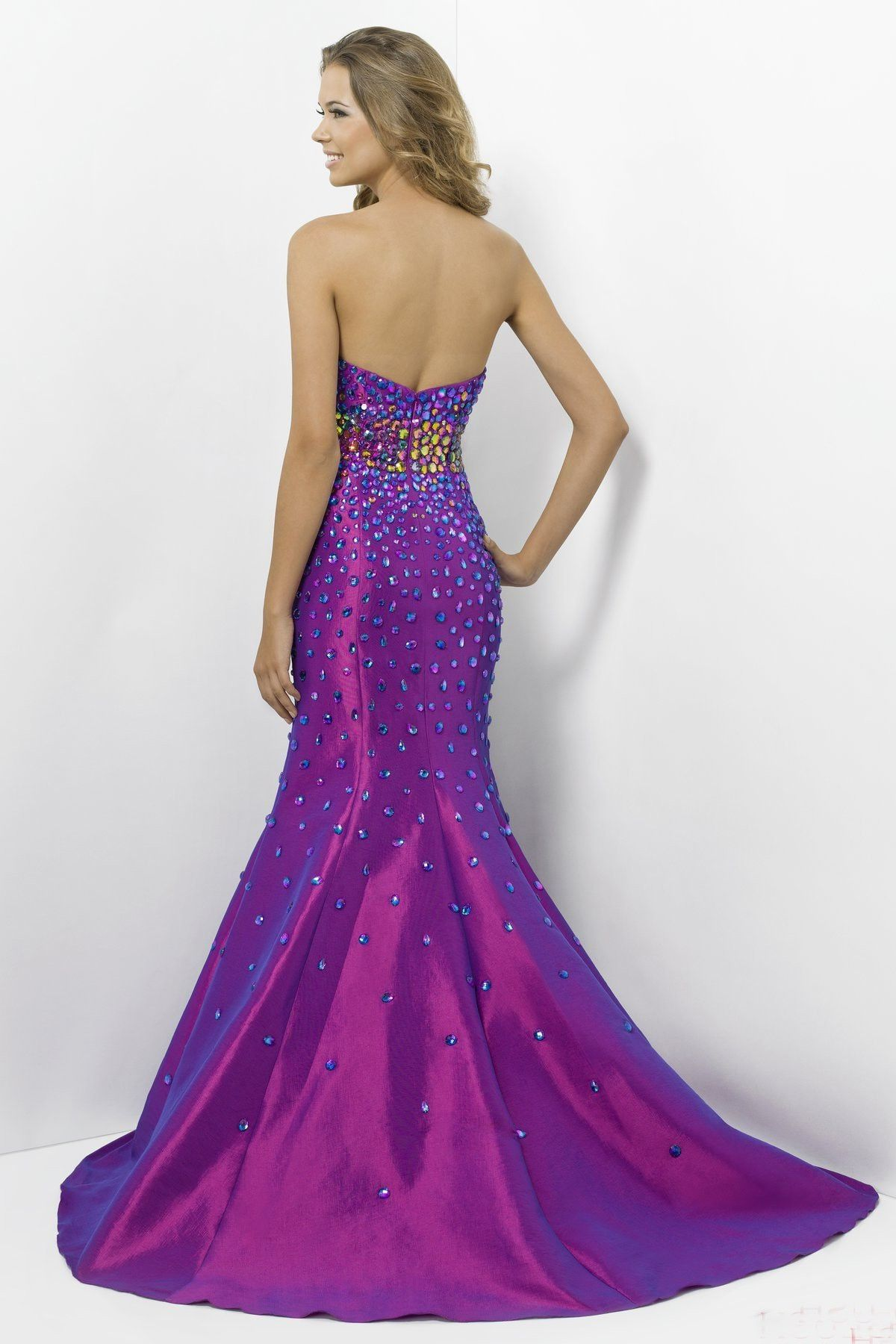 Taffeta mermaid sweetheart long prom dress with dimondpd