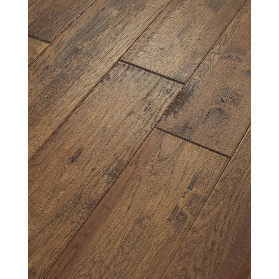 Shaw 8 in w prefinished hickory engineered hardwood for Hardwood decking planks