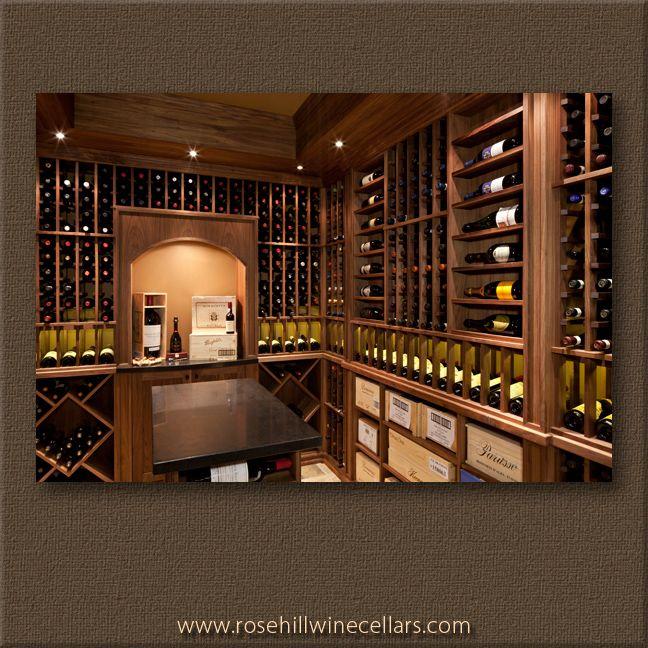 Walnut Wine Cellar From Rosehill Wine Cellars Wine Winestorage Wineracks Winefridges Wine Cellar Design Wine Cellar Wine Barrel Furniture