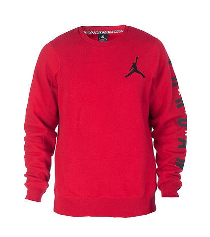 JORDAN Fleece crew sweatshirt Long sleeves Pullover style JORDAN ...