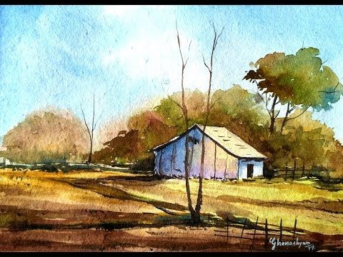 80 Simple Watercolor Painting Ideas Watercolor Landscape