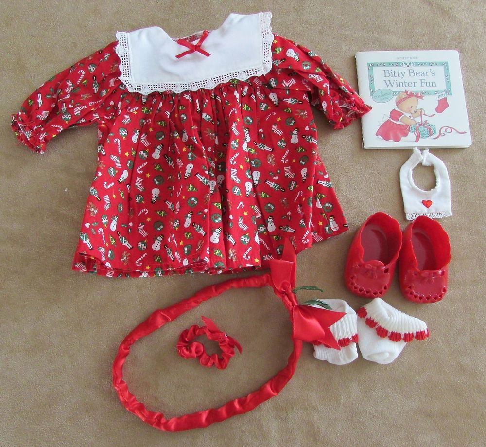 American Girl Doll Bitty Baby Xmas Dress And Headband New Doll Not included