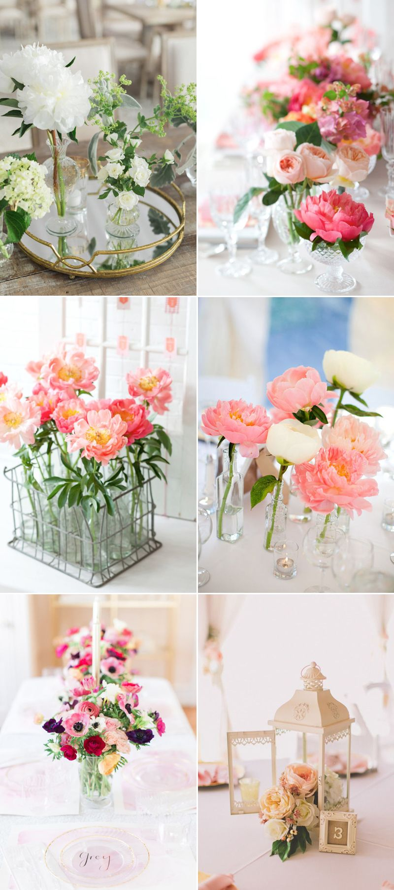 22 Romantic Fresh Flower Centerpiece Ideas For Spring Weddings ...