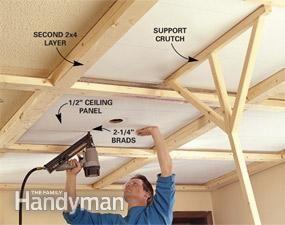 Diy Beam Panel Ceiling