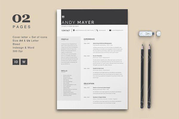Professional Resume \/ CV Template @creativework247 Resume - resume design templates