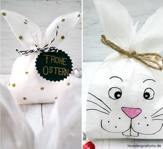 Hasen Tüten Basteln : osterverpackung hasen t ten zaj ci geschenkidee ostern ostern a ostern deko ~ Watch28wear.com Haus und Dekorationen