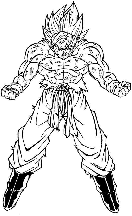Resultado De Imagen De Copias De Goku Para Pintar Dibujos