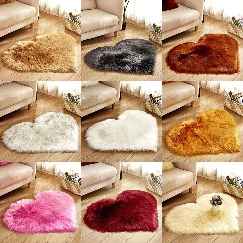 Wool Imitation Sheepskin Rugs Faux Fur