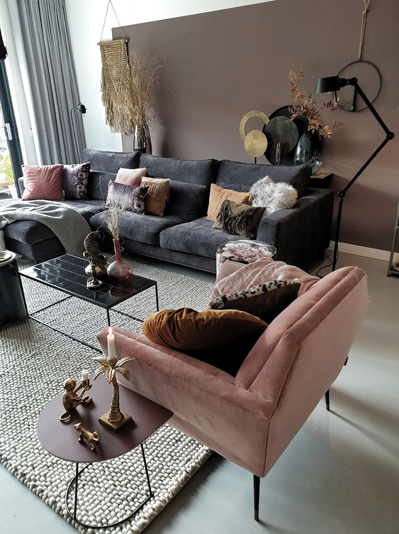 Best How To Decorate A Grey And Blush Pink Living Room In 2020 400 x 300