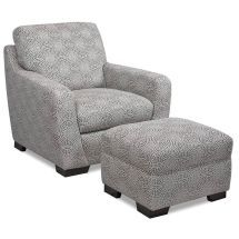 love the slate gray chair and ottoman