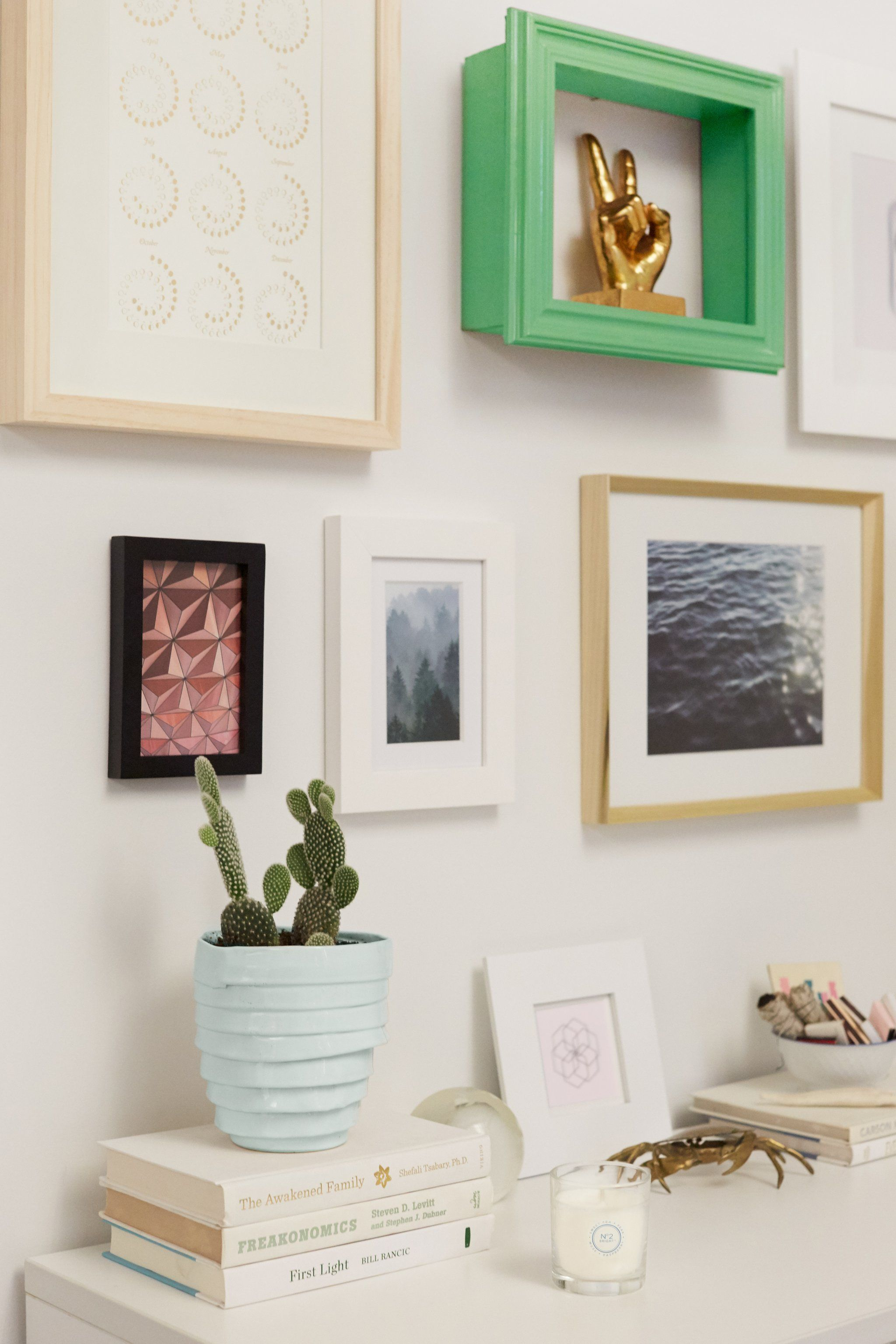 Give Your Walls a Big Pop of Color With DIY Frame Shelves | Neat ...