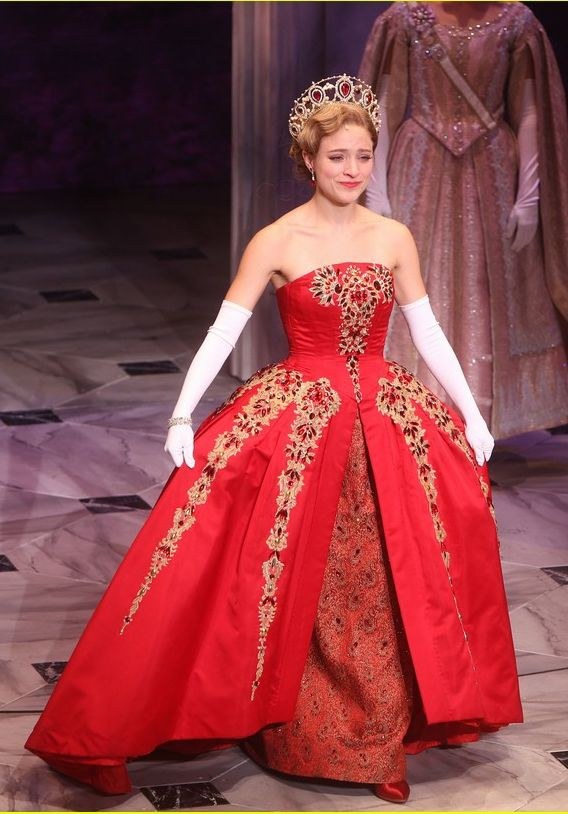 Broadway Anastasia Red Gown Christy Altomare Red Strapless Dress ...