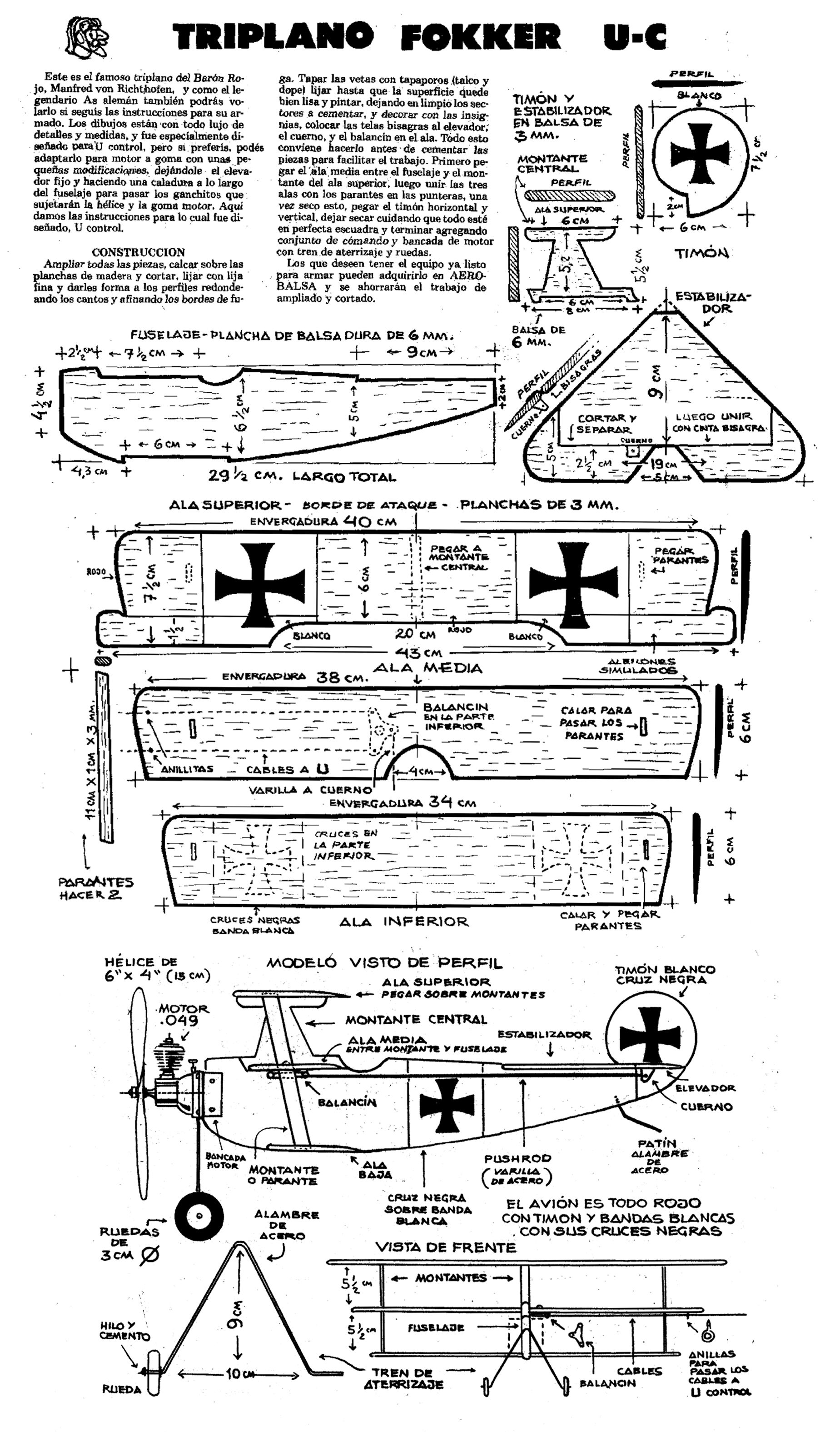 Aeromodelismo Planos Model Uak T Model Airplanes