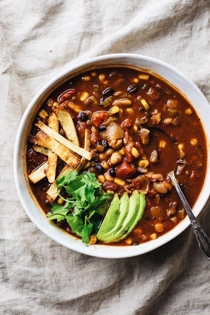 Healthy Vegetarian Tortilla Soup (Instant Pot) – A