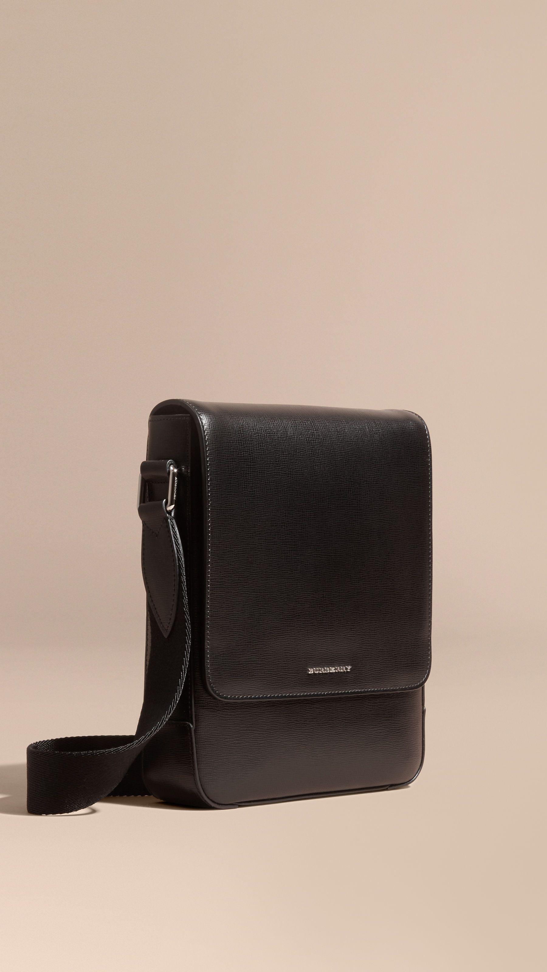 47a733402413 London Leather Crossbody Bag Black
