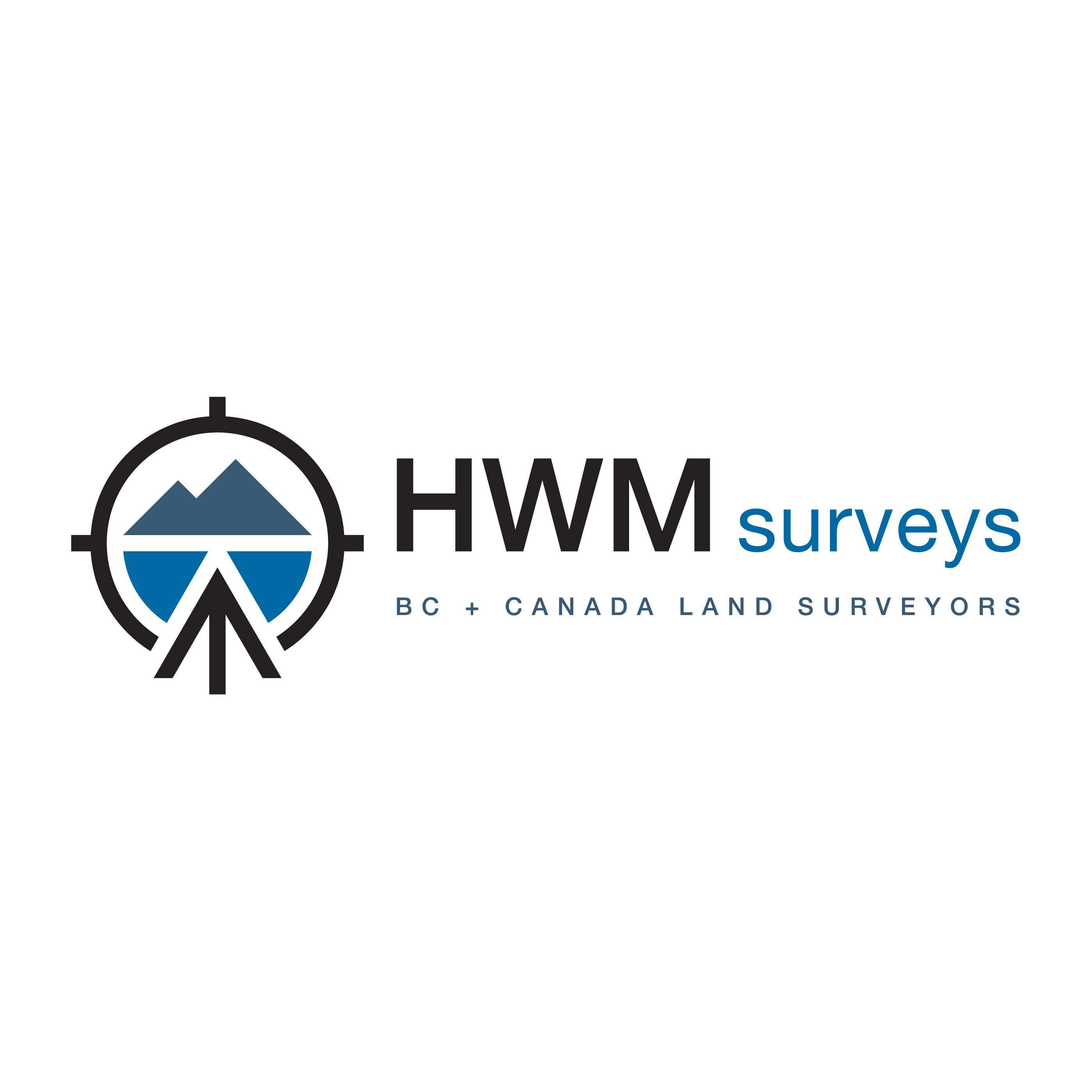 A corporate logo designed for a BC + Canada Land surveying
